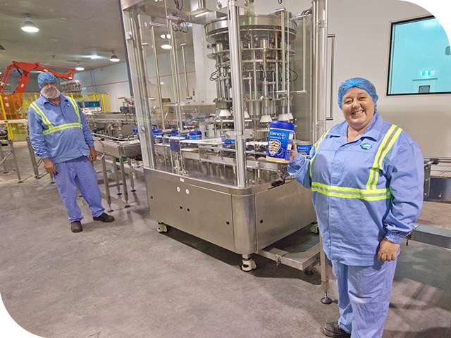 Our state of the art plant specialises in developing market ready milk powder products for local and overseas markets.
